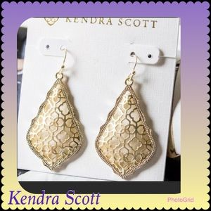 Kendra Scott Addie Gold Filigree Mix Drop Earrings